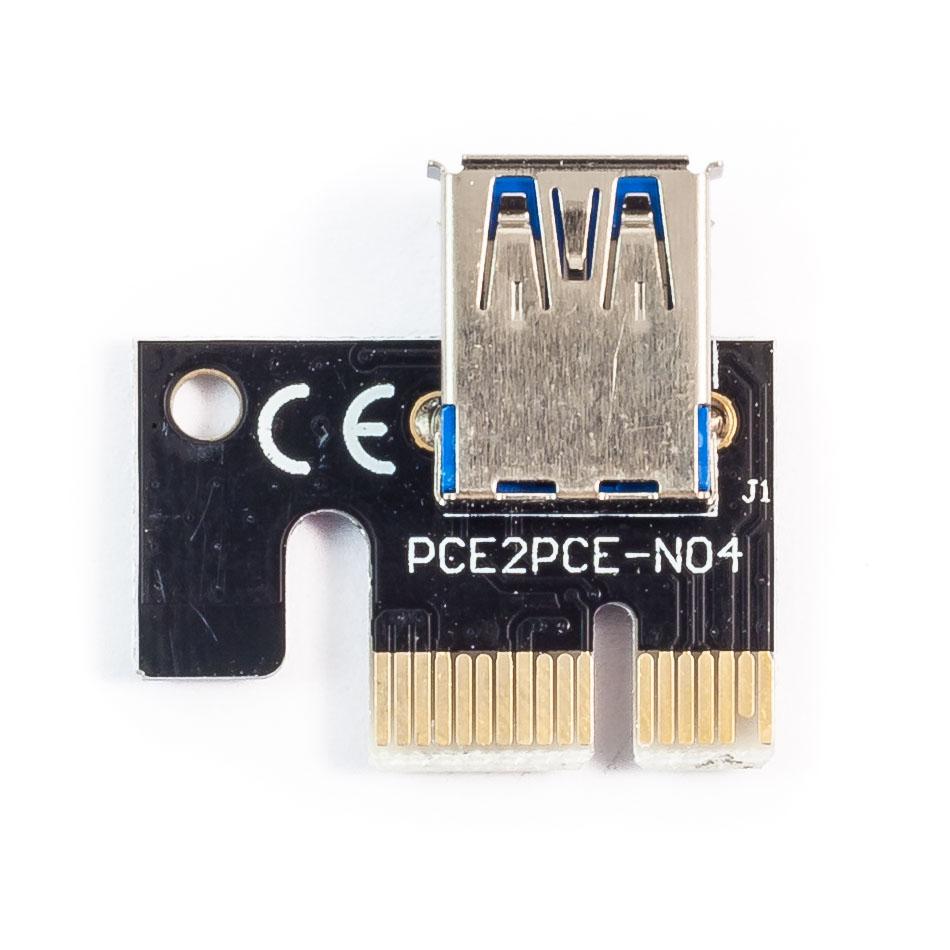 6-Pack V002 PCI-E 16x to 1x Powered Riser Card GPU Adapter ETH Zcash BTC mining